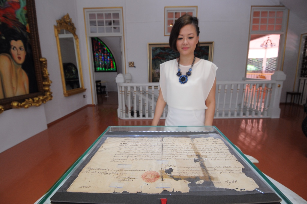 An ancient letter signed by Captain Francis Light is now being displayed at the Colonial Penang Museum. ― Picture by K.E.Ooi