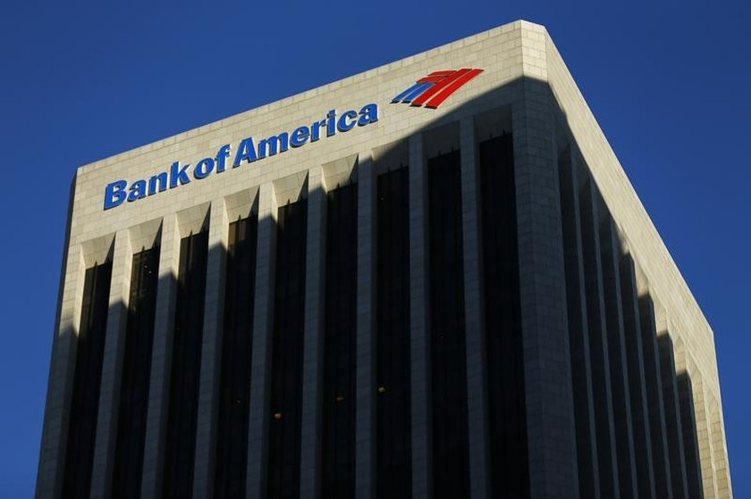 The Bank of America building in Los Angeles, California October 29, 2014. — Reuters pic