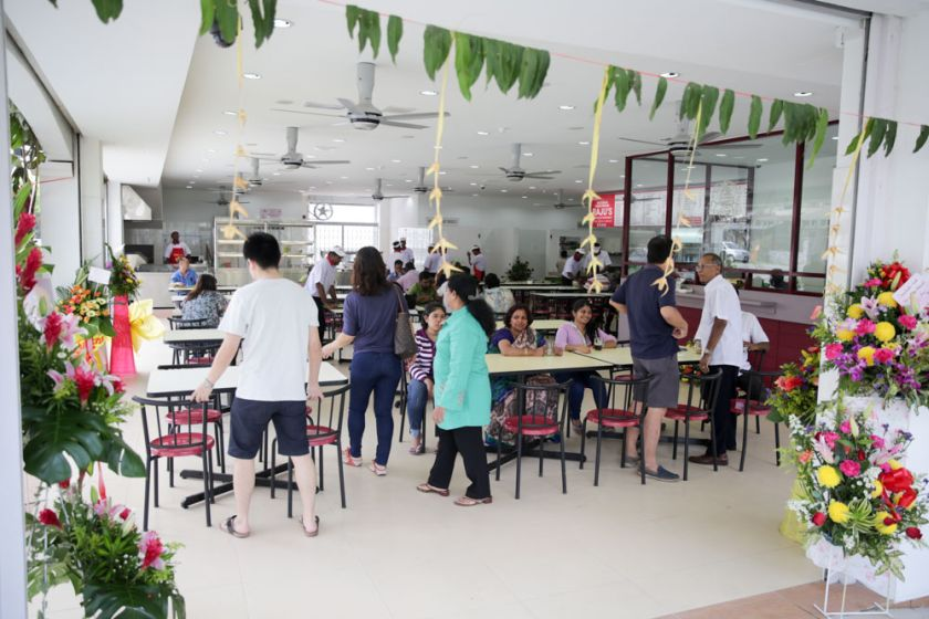There is a spacious dining area with an airy feel at Raju's new outlet.