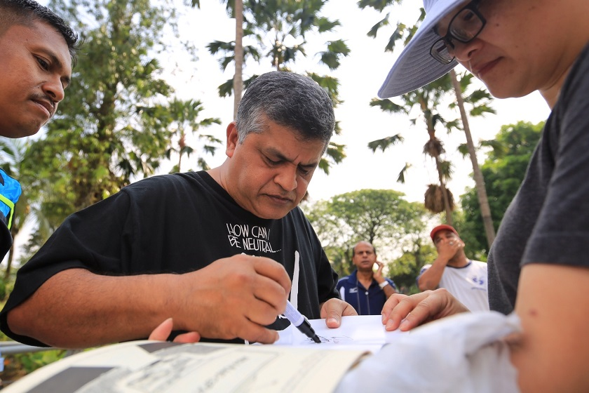 The travel ban on cartoonist Zulkiflee SM Anwar Ulhaque, better known as Zunar, (pictured) was done in bad faith and was likely an attempt by the authorities, a legal rights group claimed. — File pic