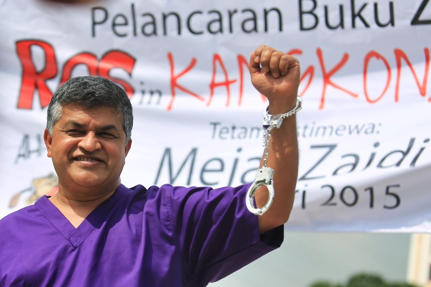 Cartoonist Zunar has had several run-ins with the law over the years, with the recent incident taking place last month when he had to cancel the launch of his book 'ROS in Kangkong Land' twice. ― Picture by Saw Siow Feng