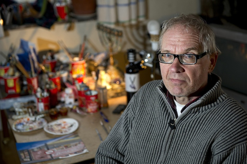 Controversial Swedish artist Lars Vilks is seen in Nyhamnslage January 3, 2012. — Reuters pic