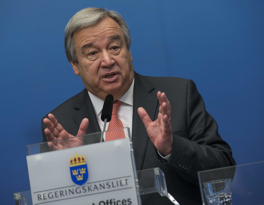 File photo of Antonio Guterres in Stockholm, February 3, 2015. — Reuters pic