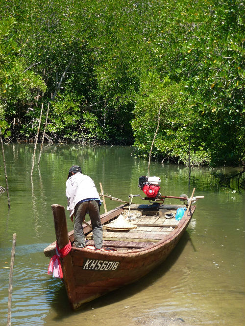 The sampan we took to the place where the cave is situated.