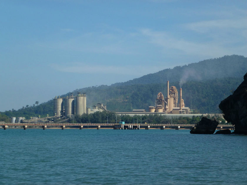 A view of Lafarge's Langkawi plant... it's enormous.