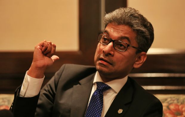Malaysian Bar president Steven Thiru said that it was unacceptable for the police to record statements from four lawyers over a motion urging the Attorney-General to resign. — File pic