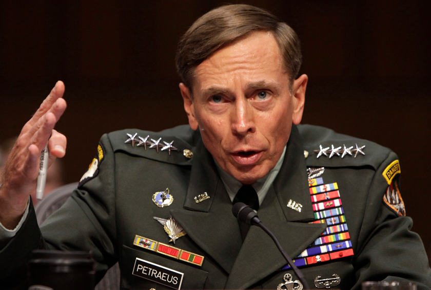 US General David Petraeus gestures during the US Senate hearing on his nomination to be CIA director in Washington, June 23, 2011. — Reuters picture
