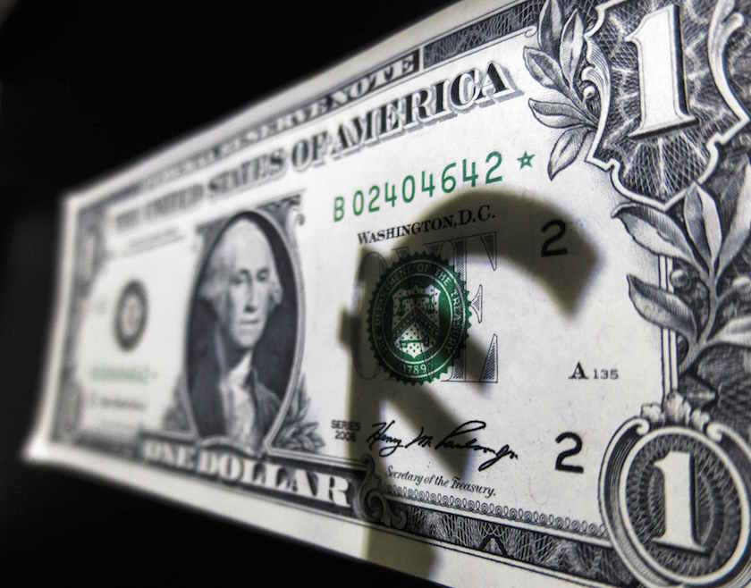 The euro was up 0.03 per cent against the dollar at US$1.09855, after rising as high as US$1.10315, its strongest since April 1. — Reuters pic