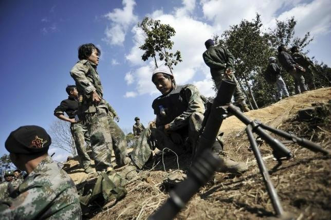 The Kachin Independence Army (KIA) said it downed the helicopter gunship during fierce clashes. — Reuters pic