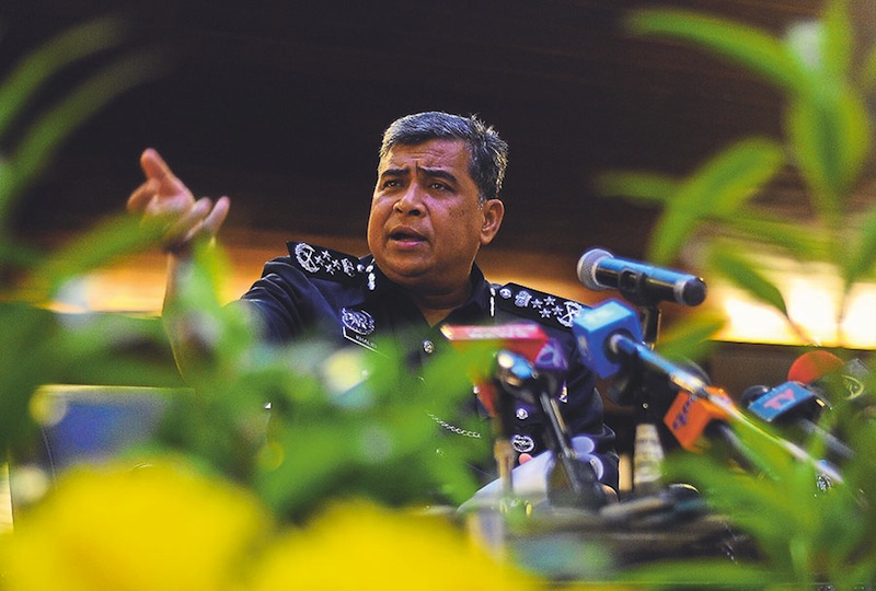 IGP Tan Sri Khalid Abu Bakar said the authorities have yet to confirm if the individual in the hacker group 'Anonymous Malaysia' is Malaysian, although the video was made outside the country. — File pic