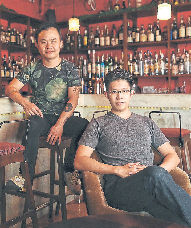 Too (left) and Chong's bar specialises in cocktails. — Picture by Saw Siow Feng