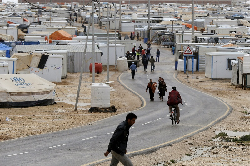 File picture of the Al-Zaatari refugee camp in Mafraq March 29, 2015. US said Pakistan's claim that the US hit an Afghan refugee camp in a drone strike is false. — Reuters pic