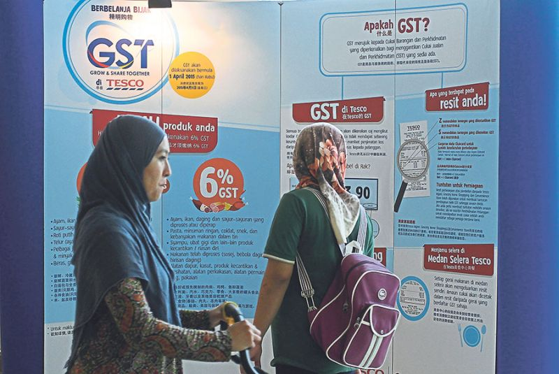 The 6 per cent GST was implemented on April 1 and the federal government had launched a drive to explain to people on the benefits of the tax. ― File pic
