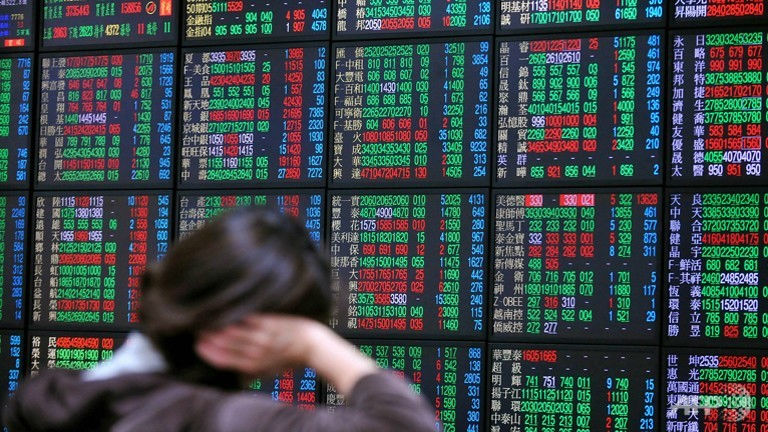 The Taiex — one of Asia's best performers this year — dropped as much as 8.6 per cent in morning trade, extending losses from record highs in April to nearly 13 per cent. It picked up slightly to sit a little more than four per cent lower later in the day.— AFP pic