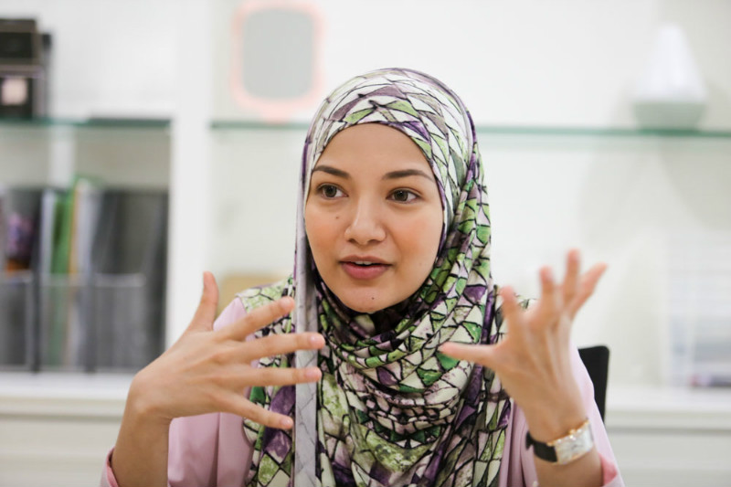 Naelofar Hijab founder Neelofa speaks to Malay Mail Online in an interview at Kuala Lumpur on April 29, 2015.