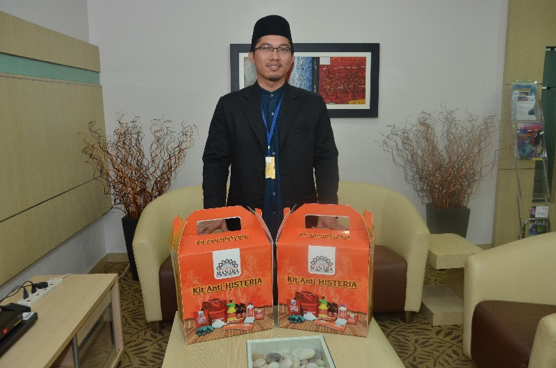 The anti-hysteria kit is being sold for RM8,750 by the UMP, which it claims can ward off 'evil spirits'.