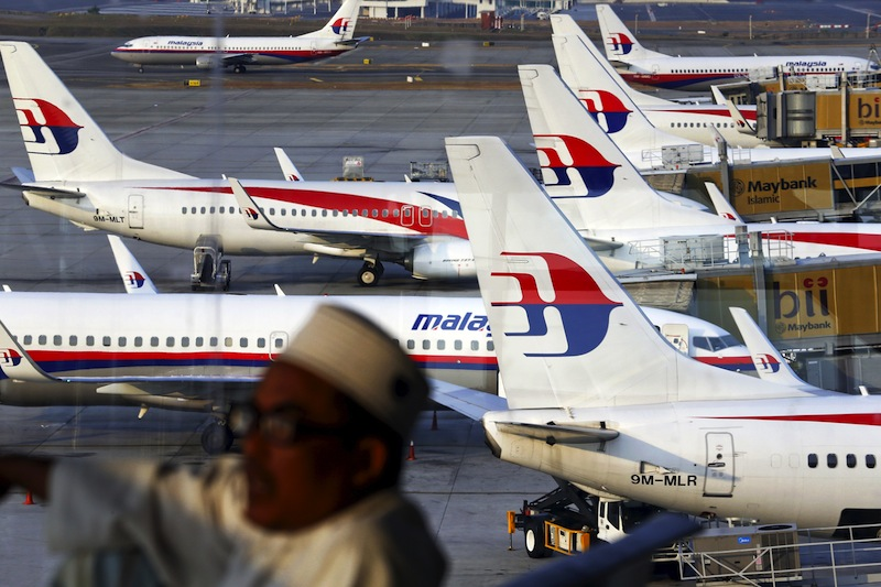 Malaysia Airlines planes are seen on the tarmac at the Kuala Lumpur International Airport in this March 12, 2014 file photo.— Reuters pic