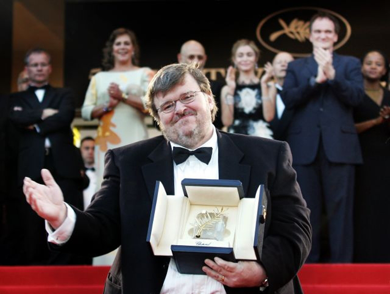 Michael Moore took the top prize at Cannes in 2004 for his documentary 'Fahrenheit 9/11.'