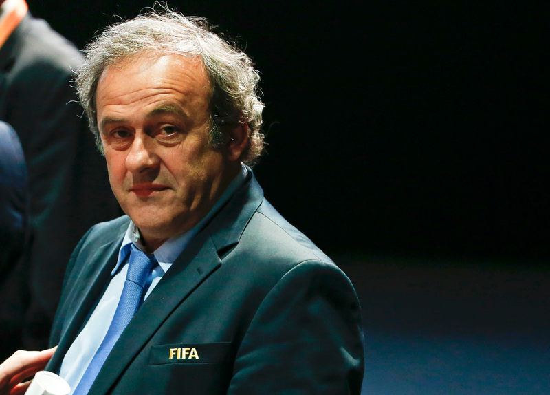 Then Uefa President Michel Platini attends the 65th Fifa Congress in Zurich in this file picture taken on May 29, 2015. — Reuters pic