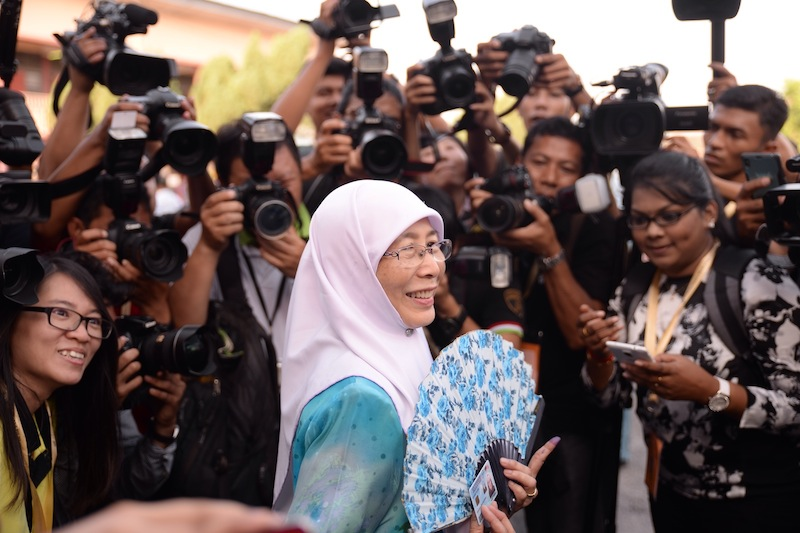 Wan Azizah not only won again the federal seat vacated — again — by husband Datuk Seri Anwar Ibrahim's disqualification, but managed to come within 3,000 votes of his margin of victory in Election 2013 even with the much lower voter turnout of 74 per cent. — Picture by K.E. Ooi