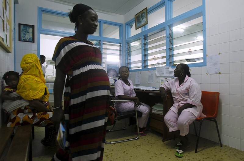 Midwives conduct consultations for pregnant women at the Treichville General Hospital during International Day of the Midwife in Abidjan May 5, 2015. — Reuters pic