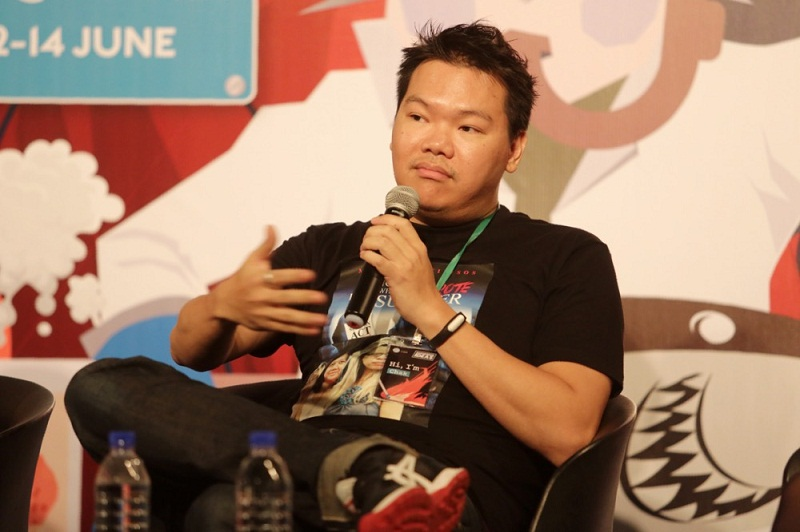 Cilisos.my's editor Chak Onn Lau speaks at the Cooler Lumpur Festival's Poskod Journalism Campus discussion in Kuala Lumpur, June 12, 2015. — Picture by Choo Choy May