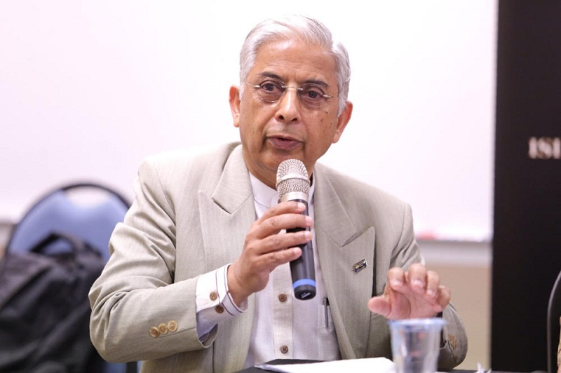 Datuk Dr Shad Saleem Faruqi , Emeritus Professor of Law, UiTM, speaks during the roundtable discussion on Islam and human rights, in Kuala Lumpur, June 14, 2015. — Picture by Choo Choy May