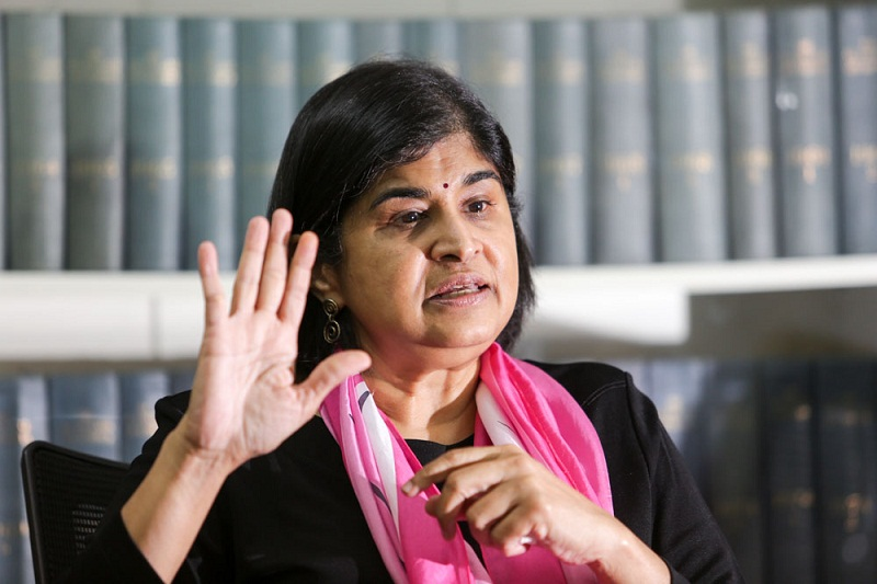 Clare Rewcastle-Brown reportedly claimed Datuk Ambiga Sreenevasan (pic) provided her with the information that is now the subject of a defamation filed by PAS president Datuk Seri Abdul Hadi Awang against Rewcastle-Brown in the UK. — Picture by Choo Choy May