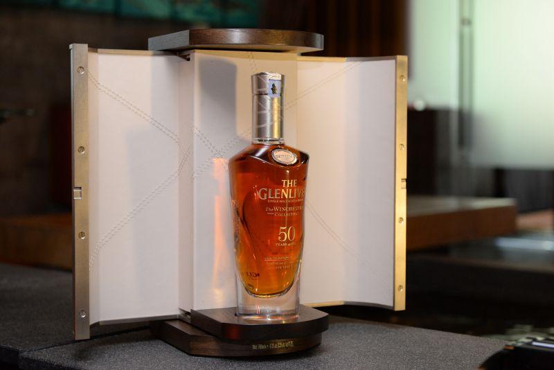 A bottle of 1964 Glenlivet was sold in an online auction last Friday for RM96,000. ― Picture courtesy of Glenlivet