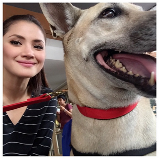 Actress Nur Fazura angered some Muslin fans when she posted a photograph of herself and a dog. — Instagram pic