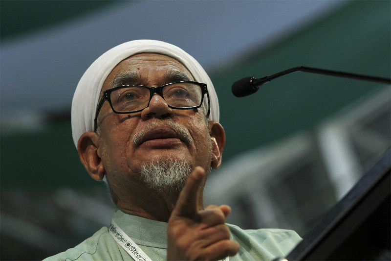 PAS president Datuk Seri Abdul Hadi Awang insisted in May that his private member's Bill aims to expand the range of punishments the Shariah courts can impose, and was not meant to introduce hudud law in Kelantan. — Picture by Yusof Mat Isa