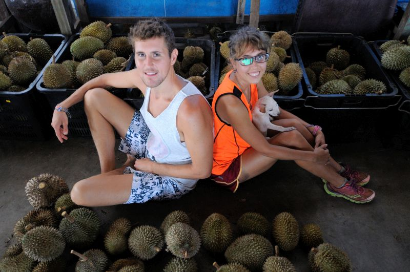 Diehard durian lover Lindsay Gasik and her friend Ryan Lewis decided to organise a durian festival for durian lovers from all over the world.