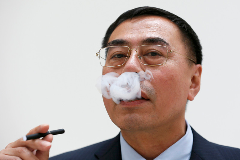 Chinese inventor of the e-cigarette Hon Lik in central London, Britain June 9, 2015. — Reuters pic