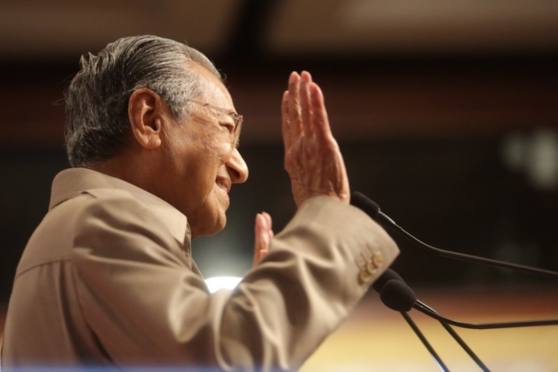 Tun Dr Mahathir Mohamad  attending the Nothing2Hide forum at Putra World Trade Centre in Kuala Lumpur, in this June 5, 2015 file photo. — Picture by Choo Choy May
