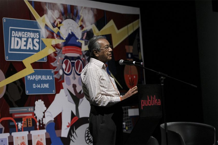 Former Prime Minister, Tun Dr Mahathir Mohamad delivers his speech at The Cooler Lumpur Festival in Kuala Lumpur. — Picture by Yusof Mat Isa