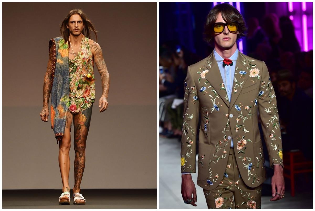 MIlan fashion this week puts focus on body art and &0s hair. — AFP pic