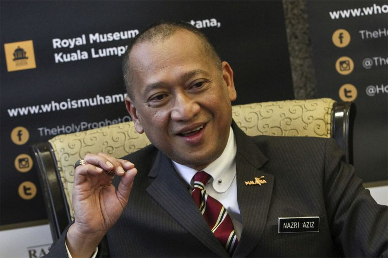 Datuk Seri Nazri Aziz says the government will impose a RM10 flat rate from five-star to zero-star hotels for foreign tourists, and Malaysians will be exempted from the tax across all classifications of hotels. — Picture by Yusof Mat Isa