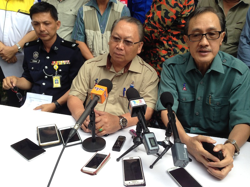Pairin (centre) said he had a premonition that something bad was going to happen earlier this week when he saw a flight of swallows circling outside his house during breakfast.