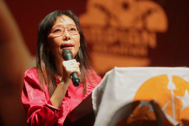 Seputeh MP Teresa Kok during the Gabungan Impian Kelantan fundraising dinner, July 11, 2015.