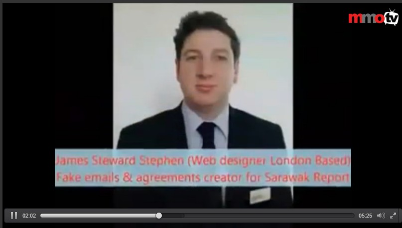 The photograph shown in the video exposé is that of a British railway services manager named James Steward.