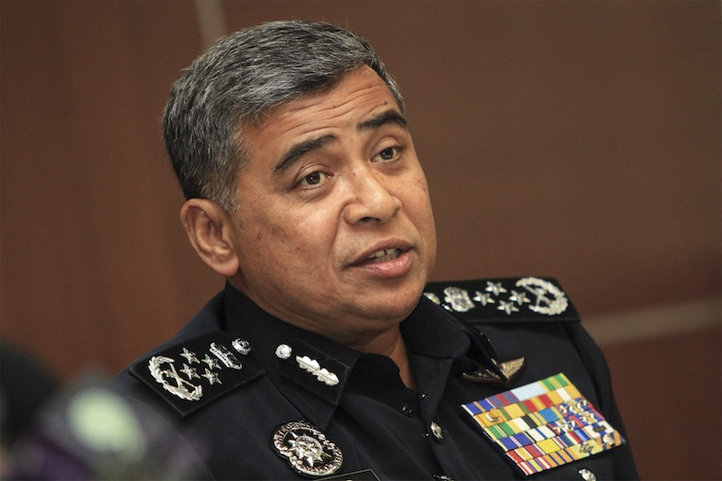 IGP Tan Sri Khalid Abu Bakar says those speaking at the March 27 gathering must exercise caution, for the police would act if they touched on matters of a seditious nature. ― Picture by Yusof Mat Isa