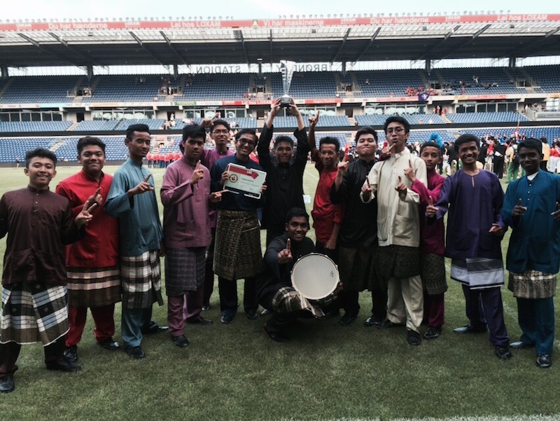 The boys stand tall in their Baju Melayu after the finals of the Drum Battle. — Picture courtesy of VICCB parents