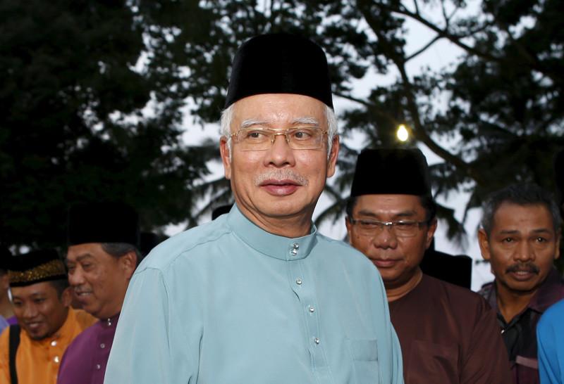 Prime Minister Datuk Seri Najib Razak arrives to break fast at Saujana Menteri Besar in Malaysia's southern state of Johor July 3, 2015. — Reuters pic