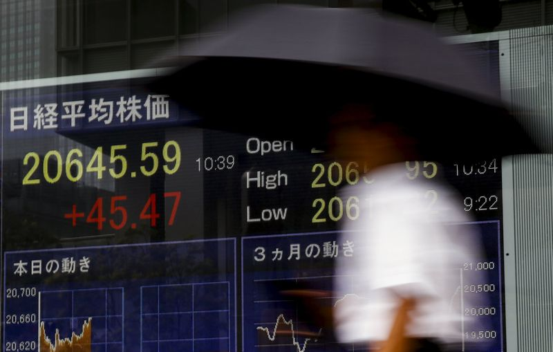 Early in the Asian trading day, MSCI's broadest index of Asia-Pacific shares outside Japan was down 0.4 per cent while US stock futures, the S&P 500 e-minis, were down 0.18 per cent. — Reuters pic
