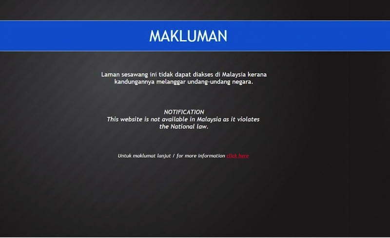 Sarawak Report blocked for Malaysian netizens by MCMC. —File pic