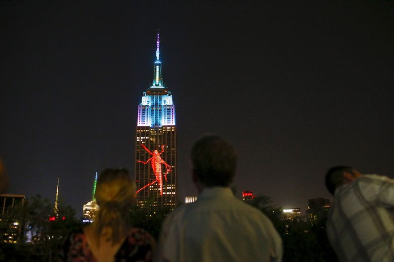 Beatles-themed music and light show to launch from Empire State Building this weekend.. — Reuters pic