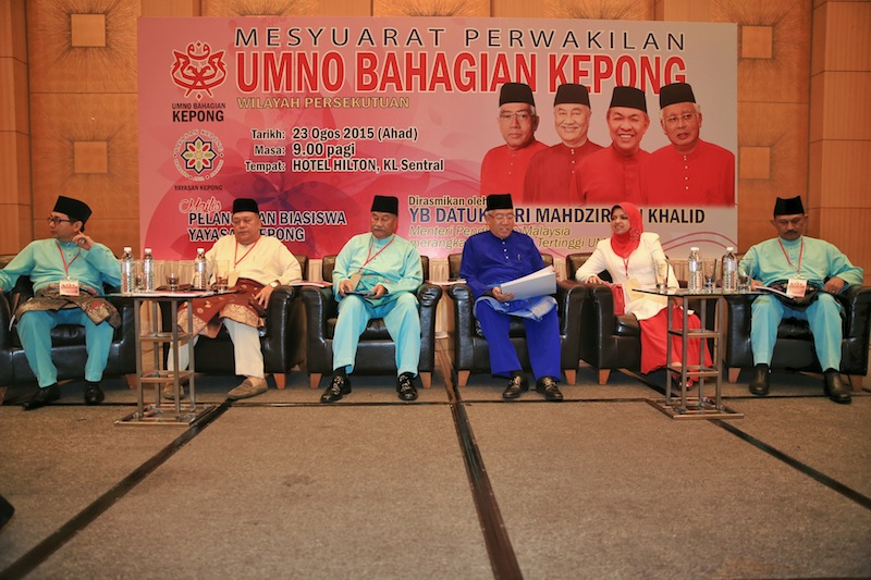 Education Minister Datuk Seri Mahdzir Khalid opens Kepong Umno delegates' meeting, August 23, 2015. — Picture by Saw Siow Feng