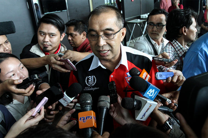 Datuk Seri Dr Salleh Said Keruak says TMI was blocked due to a contradictory report on an MACC advisory panel. ― Picture by Yusof Mat Isa