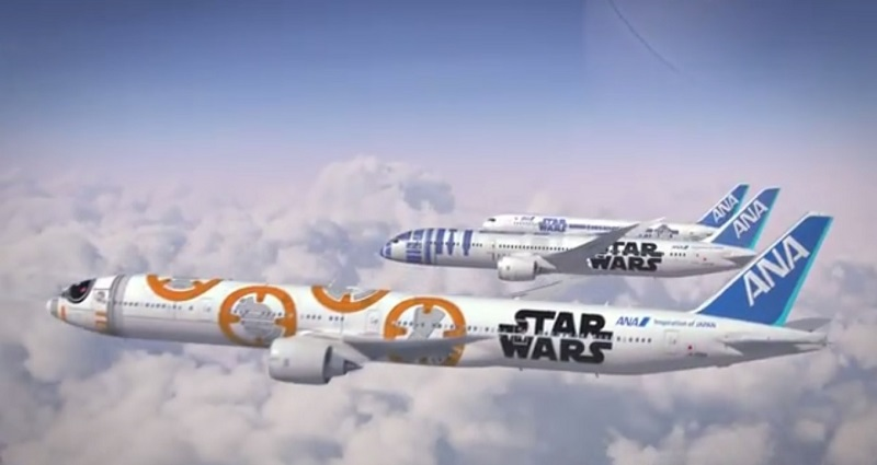 You might have to prepare for the Force the next time you fly as 'Star Wars' has teamed up with Japanese airline ANA to create R2-D2 and BB-8 emblazoned planes. — file pic