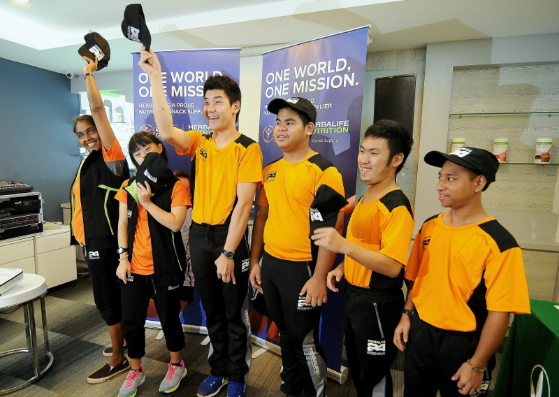 Malaysian athletes participating in the Special Olympics World Games 2015 attend a special send-off event organised by Herbalife Malaysia in Kuala Lumpur, July 4, 2015. — Bernama pic